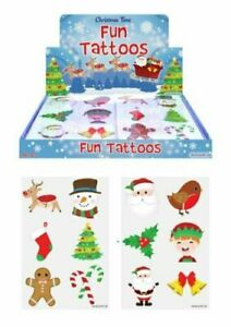 Christmas-Tattoos-Party-Bag-Fillers-Xmas-Eve-Box-Toy-12-144-Temporary-Tattoos