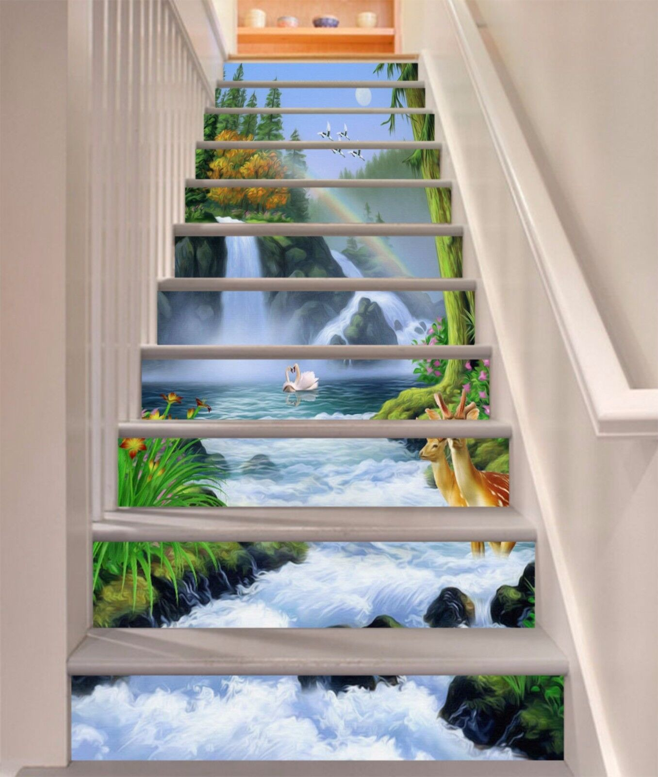 3D Forest Sault 639 Stair Risers Decoration Photo Mural Vinyl Decal Wallpaper UK