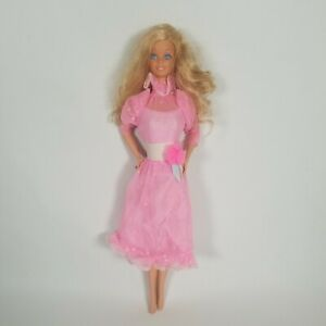 Vintage 1966 Barbie Twist n Turn Bend Legs Doll Philipines Blonde w/Ring & Dress