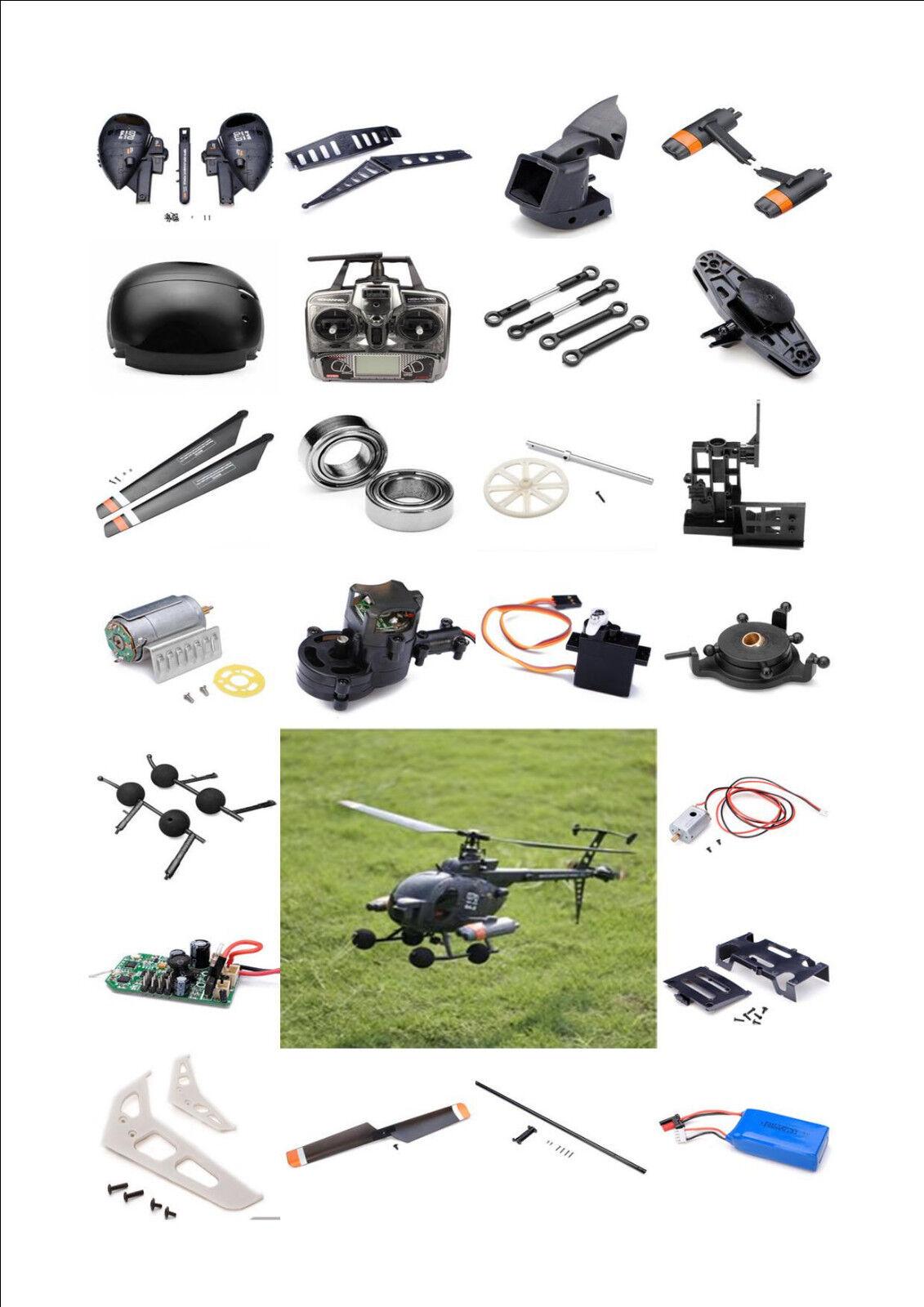 Ersatzteile FX070C FBL  Militär RC Helikopter 2,4GHz, Hubschrauber