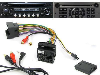 C4 C3 Adaptador Auxiliar de Interfaz Connects2 CTVPGX011 para Citroen C2 C8 C5