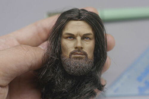 "1//6 Leonardo DiCaprio Transplanted Hair Head Sculpt For 12/"" PH Male Figure Body"