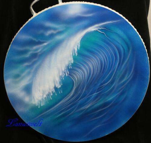 Ocean Drum Wellentrommel blau-türkis Meeresrauschentrommel 40 cm Wave-Drum