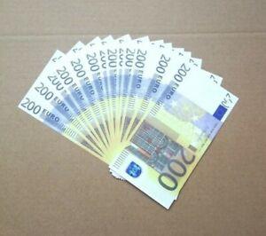 EURO-200-BANCONOTE-copy-fake-collection-game-Gioco-scherzo-100-PCS