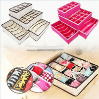 Set 4 Pcs Foldable Organizer Storage Box Divider For Bra Ties Underwear Socks
