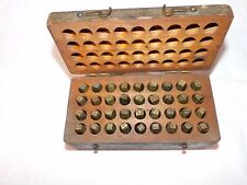 New Listingantique Punch Stamp Steel Letters Amp Numbers Machine Shop Tools With Wood Box