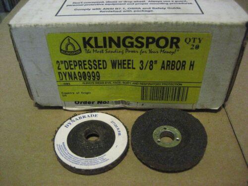 D2202-20 KLINGSPOR 2X3//8 DEPRESSED GRINDING WHEEL 20PC