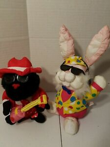 Gorilla-Bunny-amp-Halloween-Count-Animated-and-Singing-Rock-amp-Rap-Songs-Lot-of-3