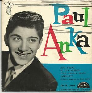 PAUL-ANKA-Just-young-FRENCH-EP-VEGA-1958