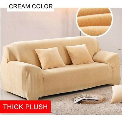 1-4 Seater Sofa Slipcover Stretch Protector Soft Couch Cover Washable Easy  Fit | eBay