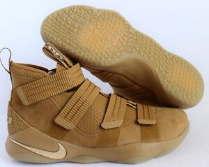 791cae1a06325 NIKE LEBRON SOLDIER XI SFG WHEAT GOLD METALLIC GOLD SZ 14  897646 ...