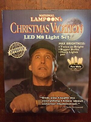Clark Griswold Christmas Vacation Pure White LED Light Set Waterproof!