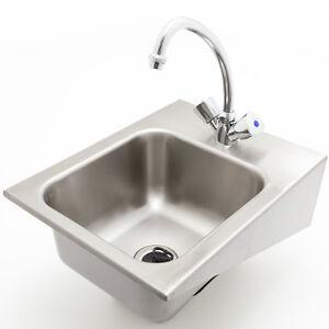 UWB-32-SET-Edelstahl-Becken-Ausguss-Waschbecken-wandhaengend-Handwaschbecken