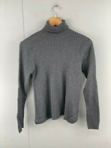 Talbots Womens Gray Long Sleeve Turtle Neck Casual Pullover Jumper Size Medium