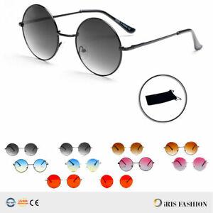 Gold Brown Lens Round John Lennon Circle Sunglasses Men 60s 70s Womens UV400