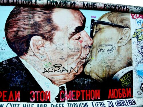 Berlin Mauer y00147 Impresión Wand Deko Leinwand Bilder