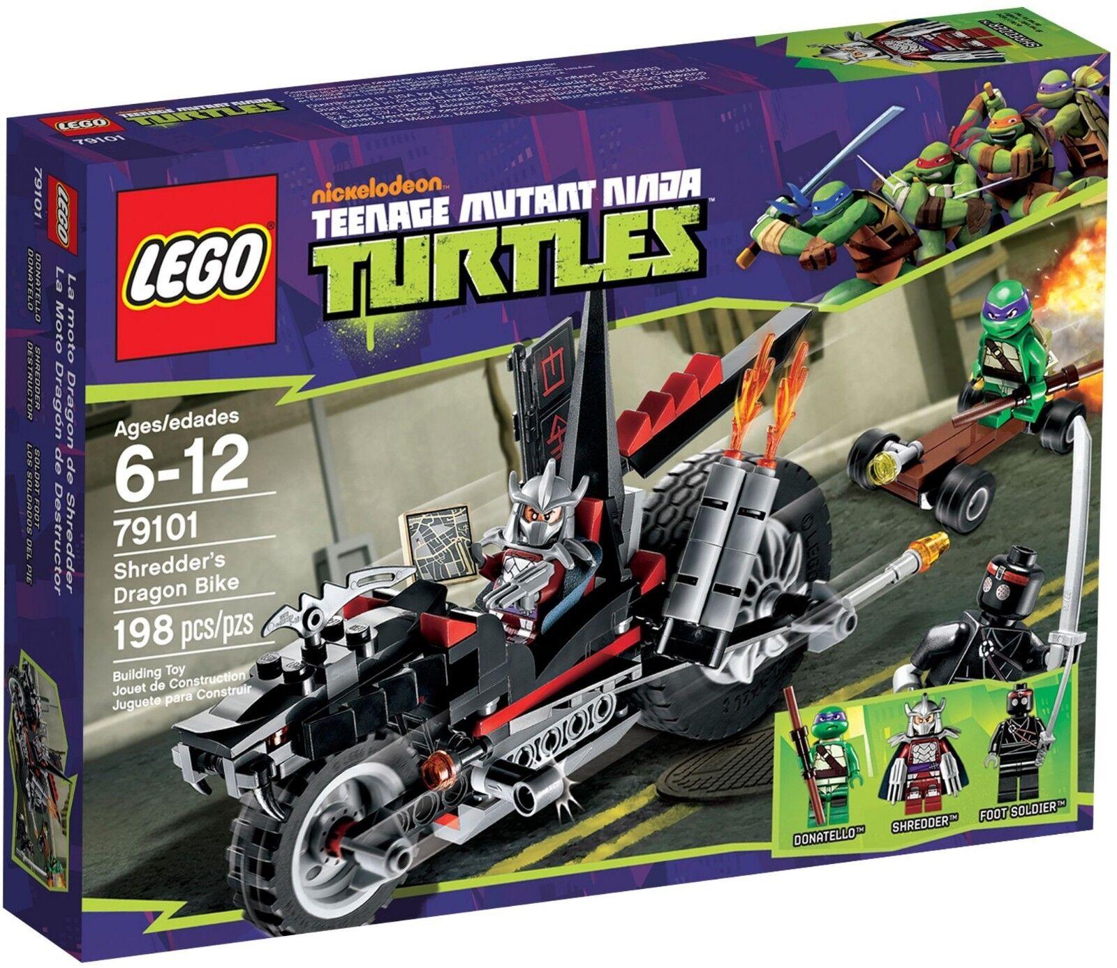 LEGO 79101 TMNT SHREDDER'S DRAGON BIKE Brand New Sealed Free P&P NINJA TURTLES