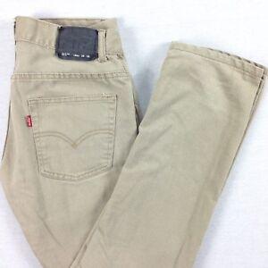 d789f79e020 LEVI's 511 SLIM Fit Jeans Womens size 16 Reg (28 x 27) Beige | eBay