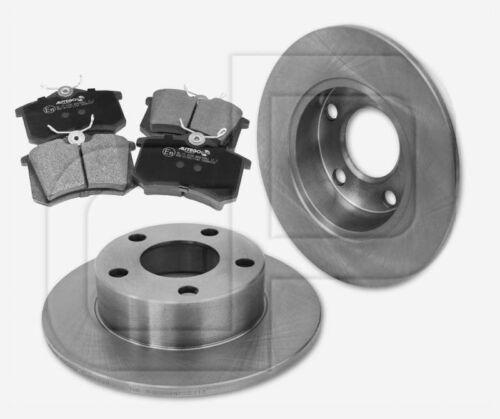 Bremsscheiben Bremsbeläge AUDI A6 Avant quattro ab Bj 1997 hinten 245 mm 0N1