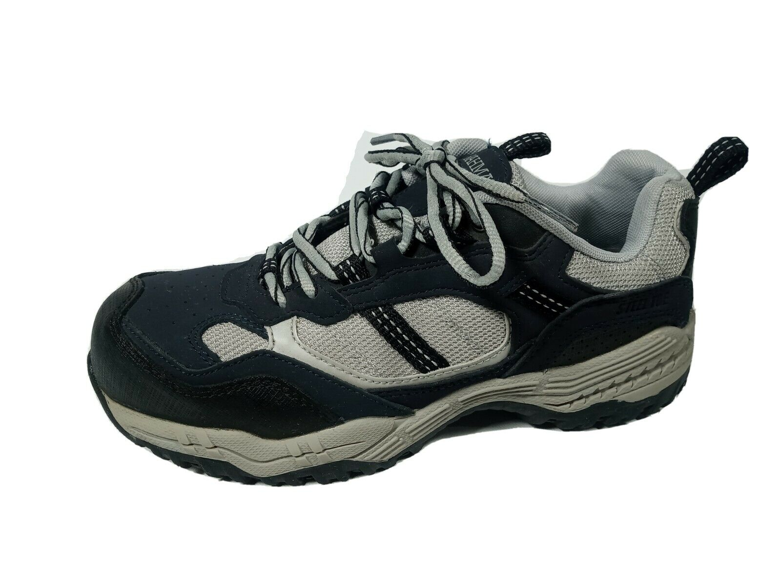 BRAHMA Amy Womens Size 6.5M Navy Blue Gray Leather Steel Toe Work Shoes Sneakers