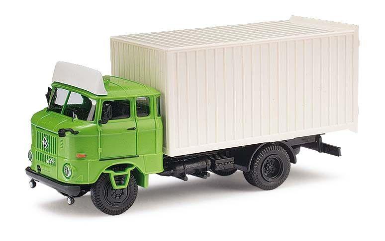 Busch 95172 Espewe  Ifa W50 Mk, Green with Spoiler, Car Model 1 87 (H0)