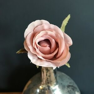 Dusky pink faux silk rose bud realistic artificial light dusty pink image is loading dusky pink faux silk rose bud realistic artificial mightylinksfo