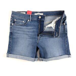 Levi-039-s-Shorts-Damen-Klassische-Shorts-Tanzen-Skyline-mittelblau-29694-0019
