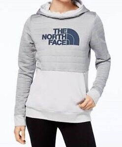 b653a5edf Details about The North Face Women's Half Dome Quilted Pullover Hoodie  Sweatshirt Lt Grey NWT