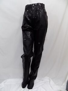 Nero Western Vtg Shiny Jr 27x34 Jeans 9 Snakeskin Reptile New Pants Ethics q5tyS