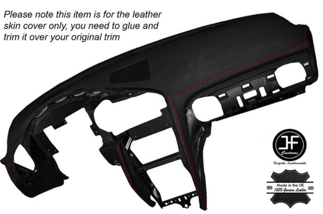 BLACK STITCH DASH DASHBOARD LEATHER SKIN COVER FITS MITSUBISHI GTO 3000GT 92-99