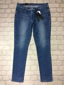 Levi-039-s-Revel-Damen-33-x-32-Mid-Rise-Skinny-Leg-Liquid-Shaping-Technologie-Jeans
