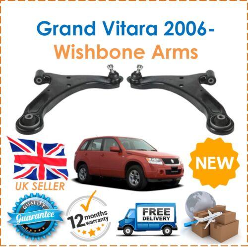 Front Lower Right /& Left Hand Wishbone Arms x2 New For Suzuki Grand Vitara 2006