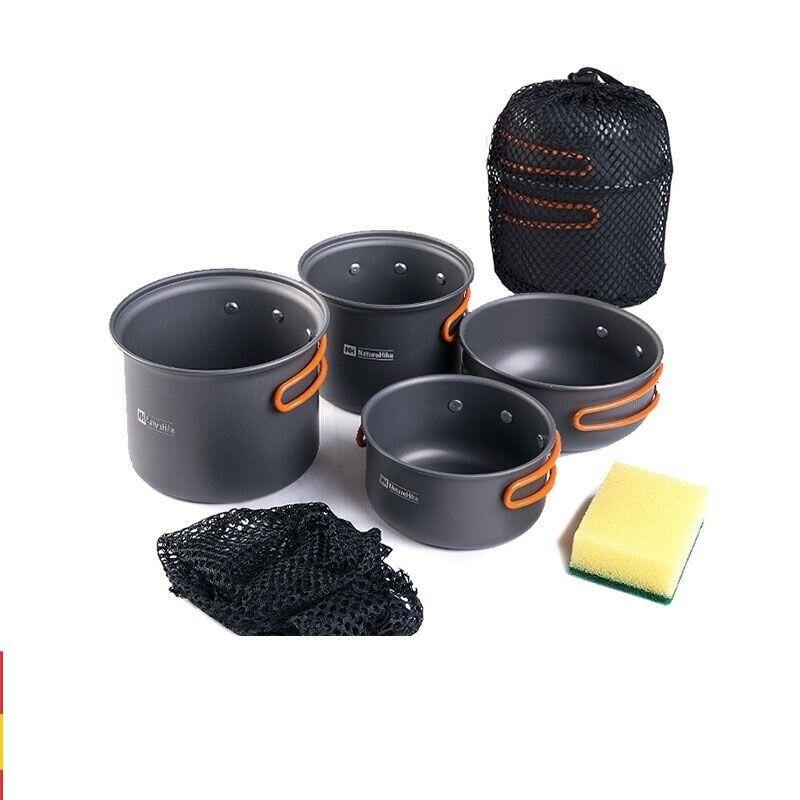 Utensilios de cocina de acampar al aire libre Vajilla Picnic Ultraliviano utensilios combinación de cuatro