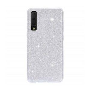 Coque-Etui-Protection-Silicone-Brillant-Paillette-Argent-pour-Samsung-Galaxy-A50