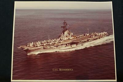 p1301 cvs-14 Popular Brand Military Ship Photo Uss Ticonderoga 8' X 10' Color Photo