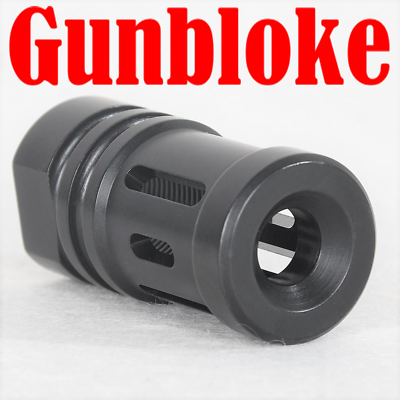 """.308 /""""THE ELIMINATOR/"""" Stainless Muzzle brake 5//8x24 Ruger Howa Savage"""