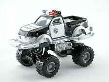 1:32 Big wheel pickup Police Car *light & sound* (Black) Die Cast Car boys toy