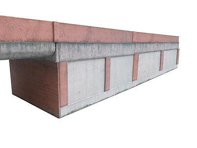 pré-découpé 5/' Moderne Brique Rouge Usé SOL MURAL KIT CARTE échelle OO pour