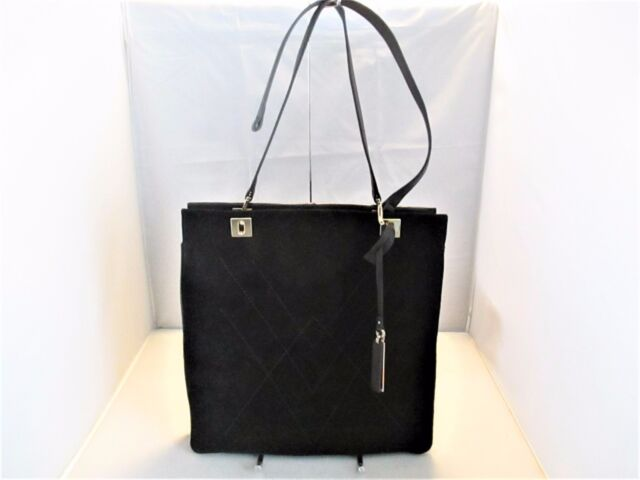 4ced2b59a72 Vince Camuto Handbag Lyle Suede And Leather Tote, Purse, Satchel $298 Black