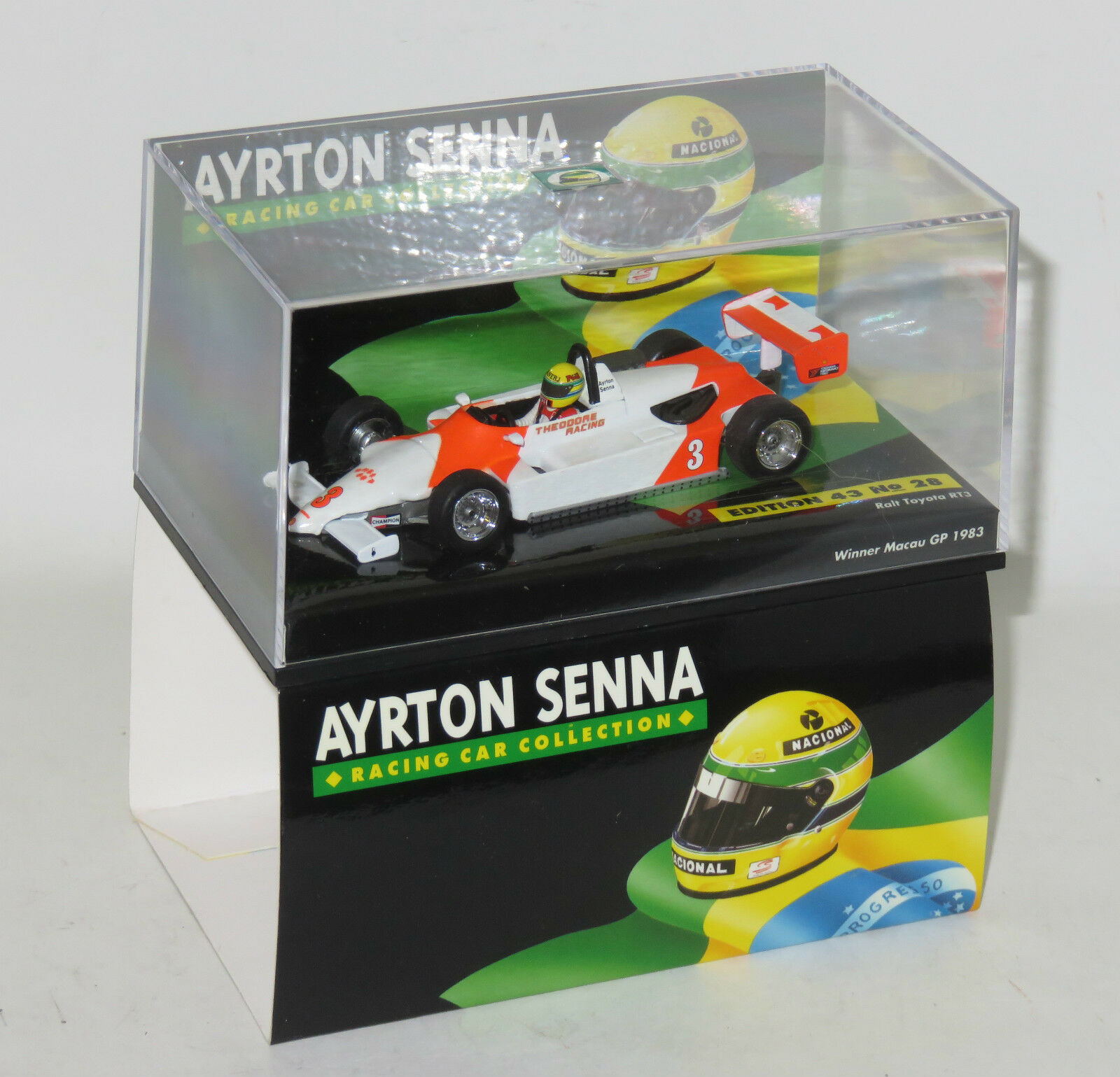 1 43 Ayrton Senna Winner Macau GP  1983 RALT TOYOTA RT3 collection no.28  sports chauds