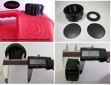 2 Pk Blitz Gas Can Caps Transportation Storage Closed Screw Lid Viton Gskt Solid