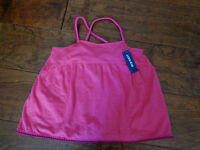 Old Navy Girl's Sz 4t Pink Spaghetti Strap Blouse Straps Cross In Back