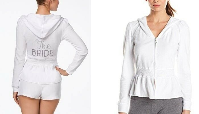 Betsey Johnson Women's Hoodie  The The The Bride  Terry Hoodie L 7250ea