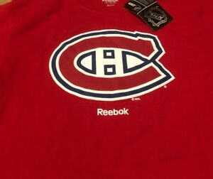 premium selection a6933 d47a3 Details about Montreal Canadiens Reebok NHL Men's Medium T-shirt New NWT  Habs