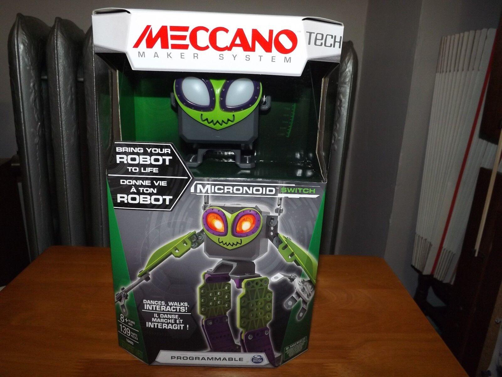 MECCANO MAKER SYSTEM TECH, MICRONOID SWITCH, ROBOT  16405, NIB, 2016