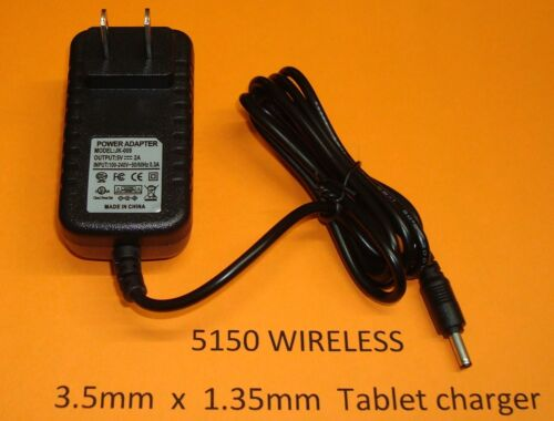 3.5mm Plug in 2A AC Home Wall Charger  for Nextbook EFMW101T Tablet eReader