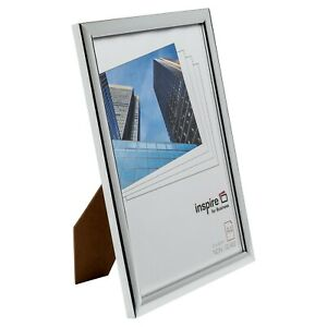 Safety-Plexi-Glass-A4-21x29-7cm-In-Shiny-Silver-Certificate-Photo-Picture-Frame