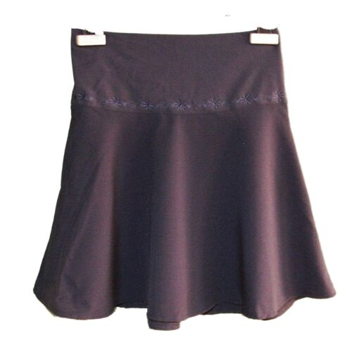 NEW GIRLS NAVY EMBROIDERED SCHOOL LIFE ADJUSTABLE FLARED SKIRT AGE 5-12 AA19