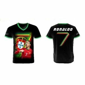 Kinder Trikot Shirt Portugal Christiano Ronaldo Schwarz Ebay