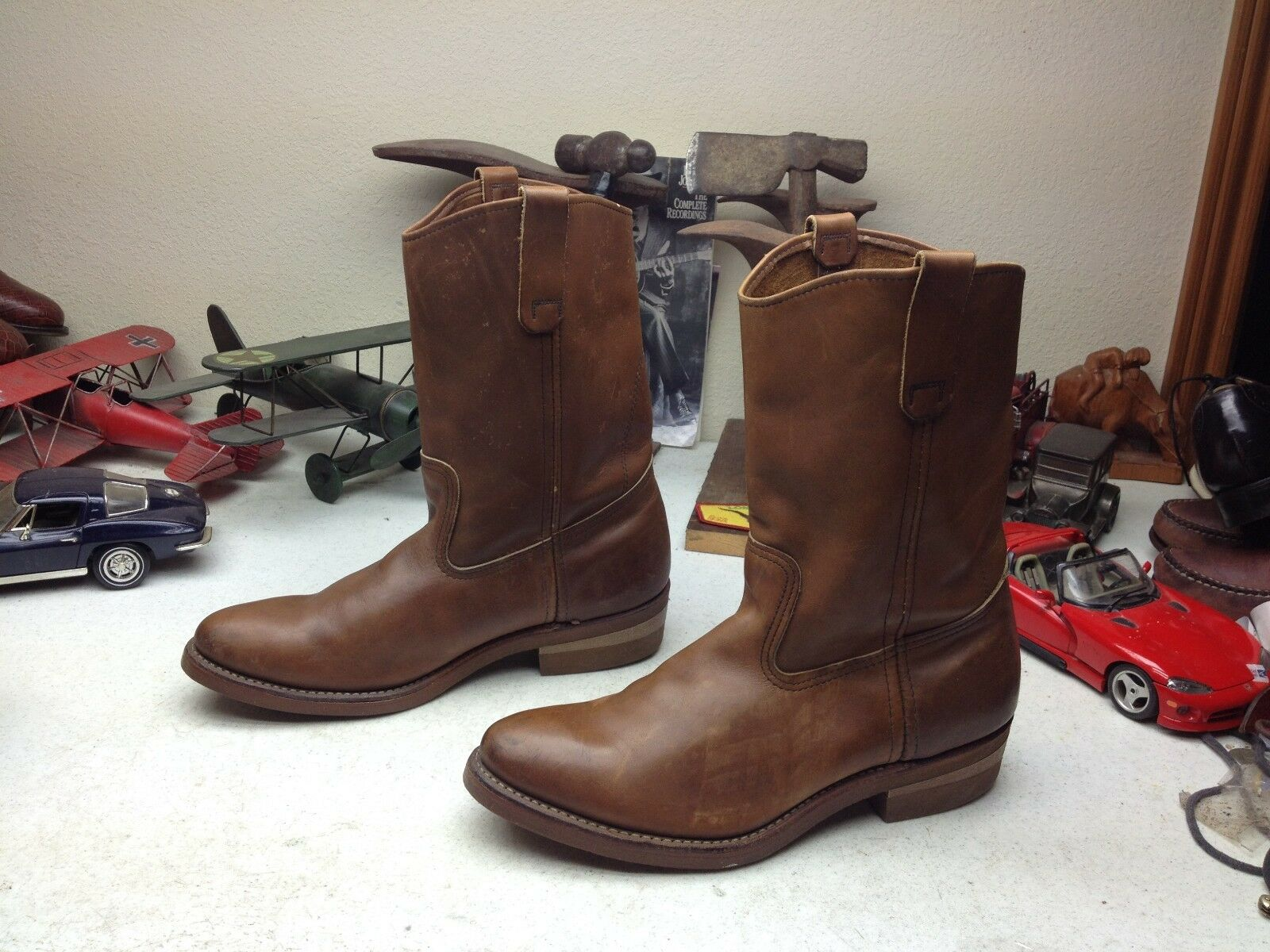 forma unica VINTAGE 1987 rosso WING WING WING USA Marrone LEATHER ENGINEER WESTERN RANCH BOSS stivali 10 C  sconto online